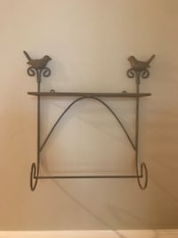 Soft brown colored metal rack