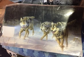 Wolf Magnetic Mailbox Cover