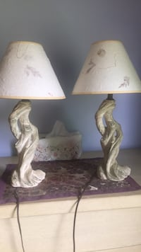 brown and white table lamp Somerset, 15501