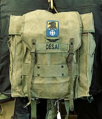 Vintage messenger rucksack bicycle bag Military Backpack