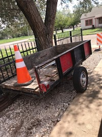 Black and red utility trailer Lubbock, 79411