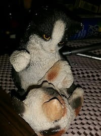 brown and black ceramic cat figurines Hamilton