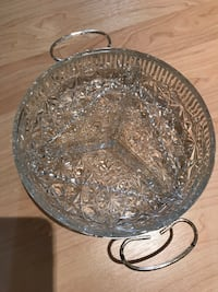 Set of 3 crystal serving trays MUST GO