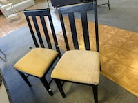 Set of 4 Wood and Fabric Dining Chairs Gaithersburg