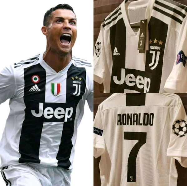buy online 65147 aa6a6 Juventus Home #7 Ronaldo Champions League Jersey