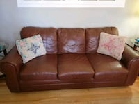 Itilian leather couch and chair set Moncton, E1C 8H1