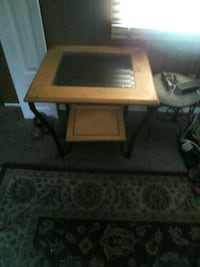 Wood and glass end tables 2 if them 50 each Wilmington, 28403