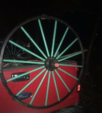 red and black bicycle wheel Pittsburgh, 15203