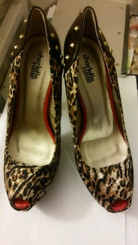 pair of brown-and-black leopard print heels Mauldin, 29662