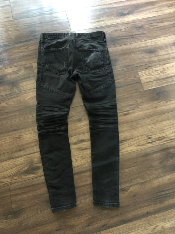 Represent True Black Biker Denim Jeans 4