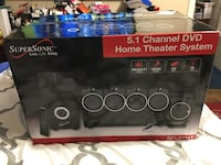 Super Sonic 5.1 Channel DVD home theater system box