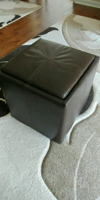 Brown Leather Storage Ottoman Square Charlotte, 28210