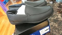 pair of gray leather loafers on box Eastern Passage, B3G 1S8