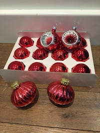 Glass Christmas tree balls