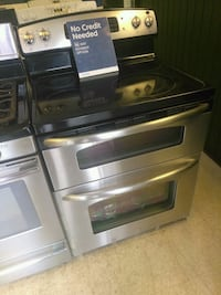 GE black and stainless double door electric range Canton, 44705
