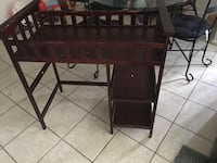 brown wooden single pedestal desk Orlando, 32811