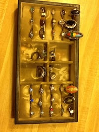 silver-colored gemstone encrusted ring lot Amite City, 70422