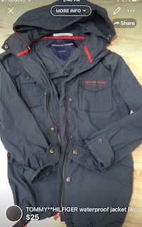 TOMMY**HILFIGER gorgeous waterproof jacket like NEW!size S-FIRM on price  London, N5W 6E3