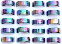 Rainbow Color Stainless Steel Rings (New) Pensacola, 32506
