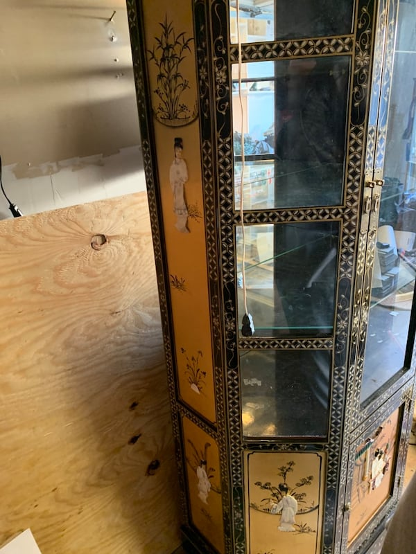 Vintage China Cabinet with a Coffee Table and side table 8c8e5c02-2011-4768-89fb-26159439f40c