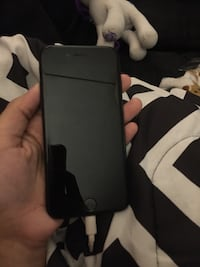 black iPhone 7 with black case Providence, 02909