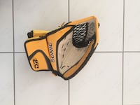 yellow and beige Sonic leather mitt Pont-Rouge, G3H
