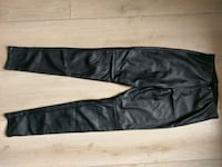 Black pleather pants HM size 38 Milano, 20134