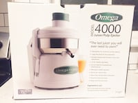 Omega 4000 Juicer/Pulp Ejector New in Box 46 km