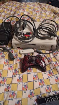 Xbox 360 console with controllers and game cases Hadley, 12835