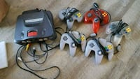 N64 with adapter, controllers, and 4 games Chico, 95926