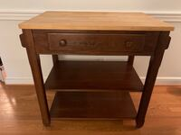 brown wooden single drawer side table Fairfax, 22030