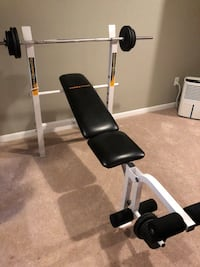 Workout bench and weights Canton, 48188