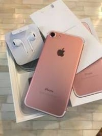 Rose gold iphone 7 with box, power adapter, lightning to usb cable, and earpods with lightning connector Rajendra Nagar, 500081