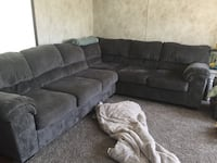 Gray sectional with ottoman Bloomsburg, 17815