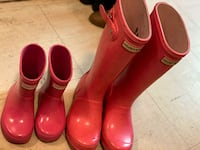 Kids used hunter boots big kid size 1 us and toddler size 6 us Toronto, M6M 5A5