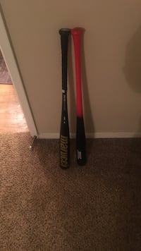 two black and red baseball bats Dallas, 75207