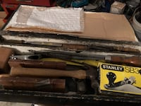Old wood toolbox with nice old wood working tools Bolton, L7E 2L3