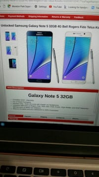 White Samsung Galaxy Note 5 screengrab