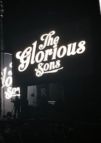 The Glorious Sons 2ND ROW - Kingston Sept 21