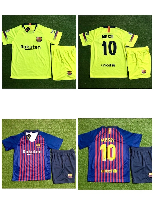 low priced d71d9 4d3f9 Barcelona # 10 Messi Set Jersey & Short Home and Away jersey & short 2018  /19. $ 35 each set .New