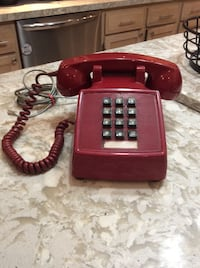 Vintage Red Touch Tone Phone Courtice