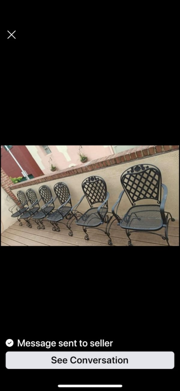 Woodward Wrought Iron Rocking Dining Chairs-only 2 left (1 pair) c0d98d61-fab4-4de6-b45f-2f092a3db157
