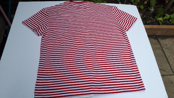 Ralph Lauren Polo Stripped T-Shirt Red/White NWT Large/Medium 2