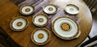 white and brown ceramic plates Barrie, L4M 3G7