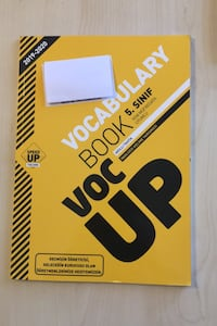 Speed up publishing  [TL_HIDDEN] .sınıf voc up vocabulary book