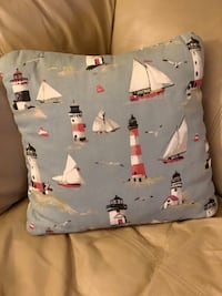 Lighthouse and Sailboat Accent Pillow  Austin, 78759