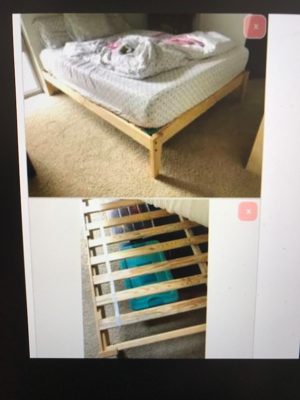 Queen Real Wood Platform Frame Bed, will Deliver !