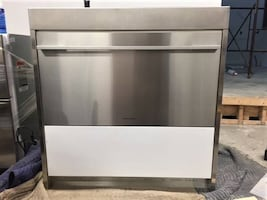 "Fisher Paykel Stainless Steel 36"" pantry single drawer refrigerator"