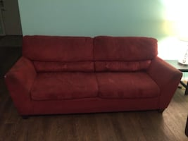 3 Person Red Couch