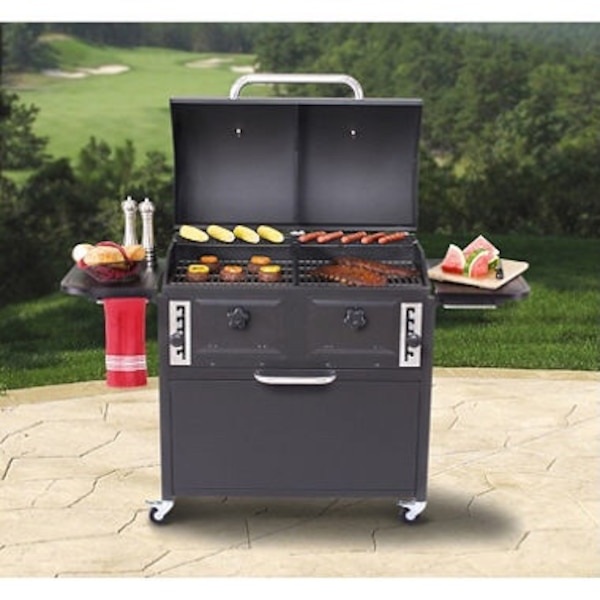 Backyard Classic Twin Chamber Charcoal Grill - Used Backyard Classic Twin Chamber Charcoal Grill For Sale In Arnold